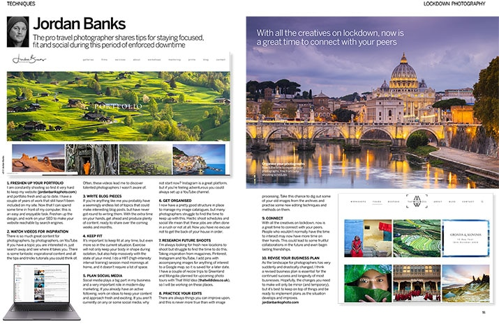 Digital Photographer Magazine article by Jordan Banks