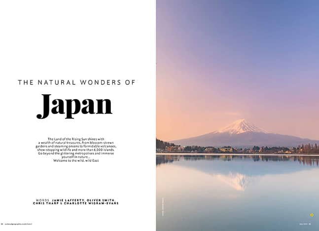 Mount Fuji in Japan for National Geographic magazine