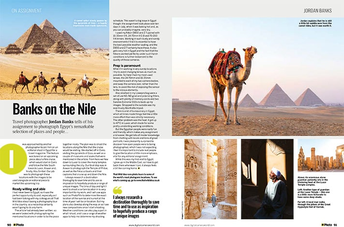 Photography feature on Egypt