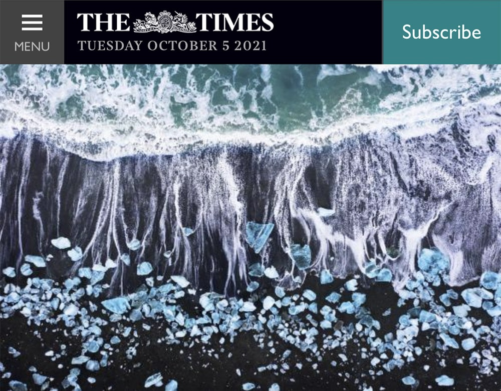 The Times Newspaper featuring Jordan Banks Photography