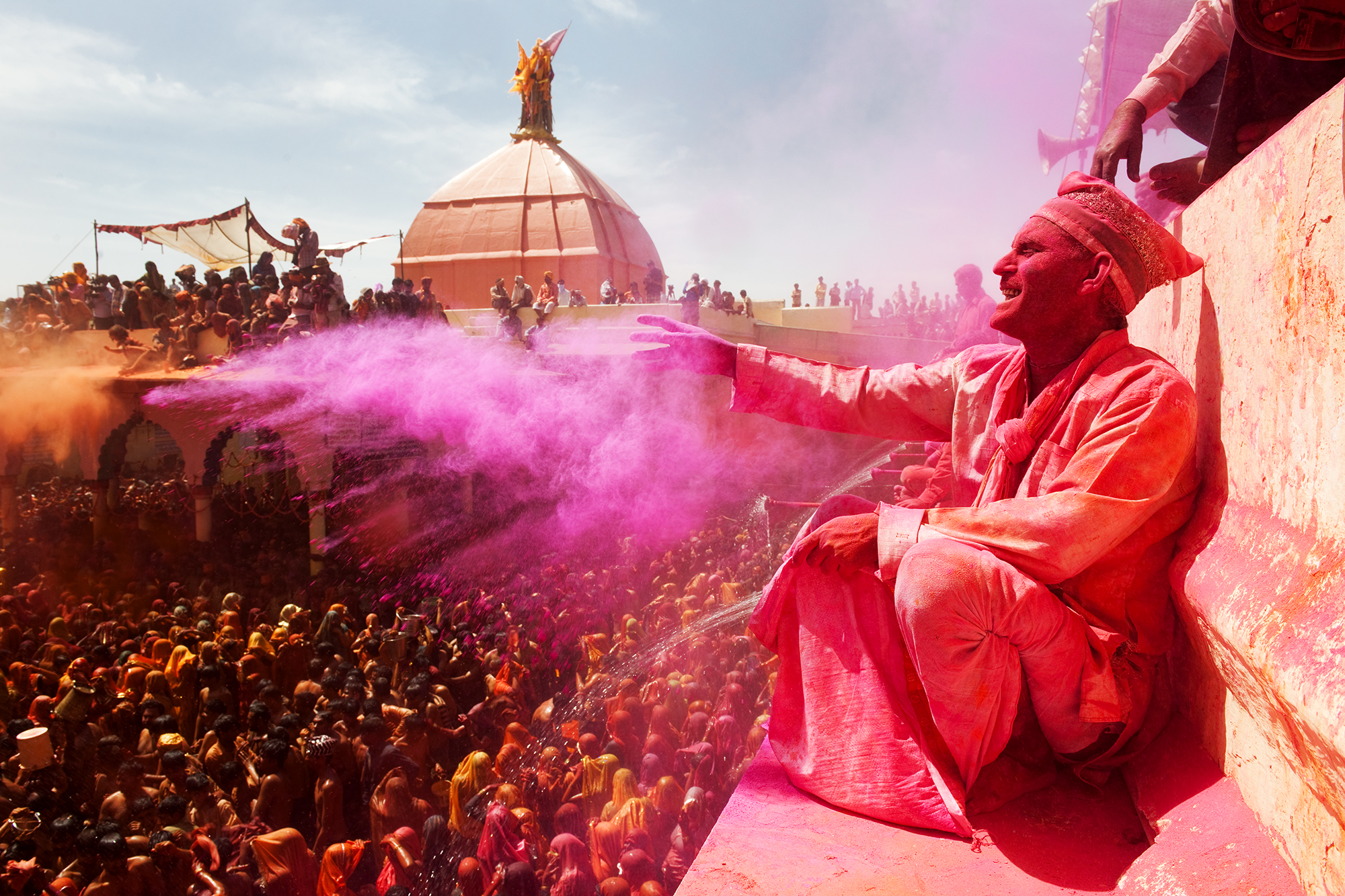 Man at Holi Festival in India